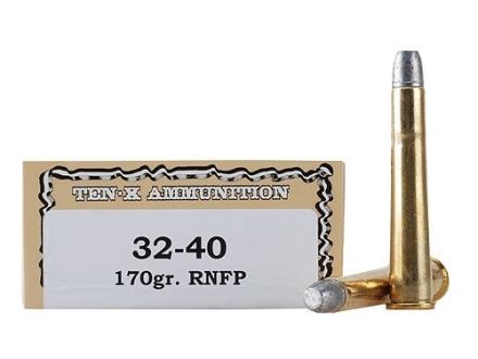 Ten-X Cowboy Ammunition 32-40 WCF 170 Grain Lead Round Nose Flat Point Box of 20