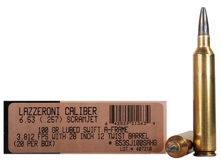 Lazzeroni Ammunition 6.53 Scramjet 100 Grain Swift A-Frame Semi-Sptizer Box of 20