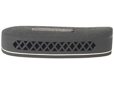 "Pachmayr F325 Deluxe Field Recoil Pad Grind to Fit 1"" Small with White Line with Stippled Face Black"
