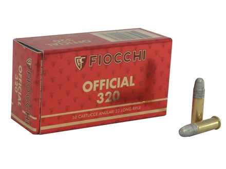 Fiocchi Exacta Rifle Super Match Ammunition 22 Long Rifle 40 Grain Lead Round Nose Box of 50