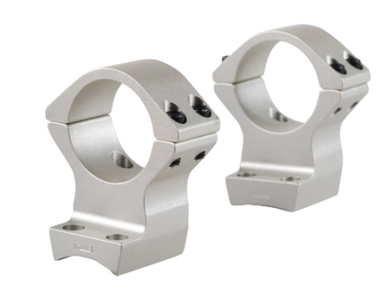 "Talley Lightweight 2-Piece Scope Mounts with Integral 1"" Rings Browning X-Bolt Silver High"