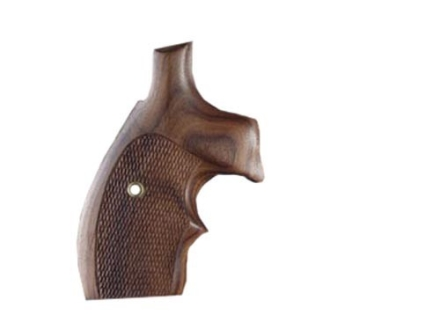 Hogue Bantam Grips with Top Finger Groove S&W K, L-Frame Round Butt Checkered Cocobolo