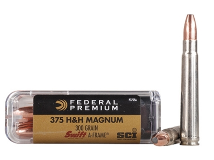 Federal Premium Cape-Shok Ammunition 375 H&H Magnum 300 Grain Swift A-Frame Box of 20