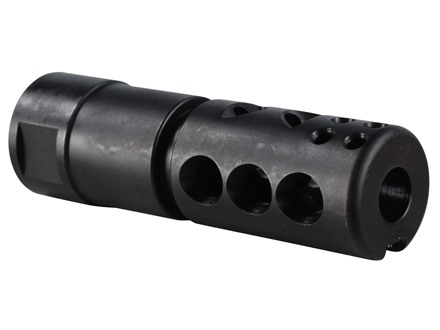 "Smith Enterprise Good Iron Direct Connect Muzzle Brake 5/8""-24 Thread with Jam Nut AR-10, LR-308 Matte"