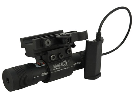 AimShot LS8100 Green Laser Sight Kit with Picatinny-Style Mount and Quick-Release Rail Matte