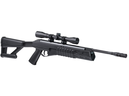 Crosman TR77 Nitro Piston Tactical Break Barrel Air Rifle 177 Caliber Pellet Black Synthetic Stock Overmolded Matte Barrel with 4x32mm Scope