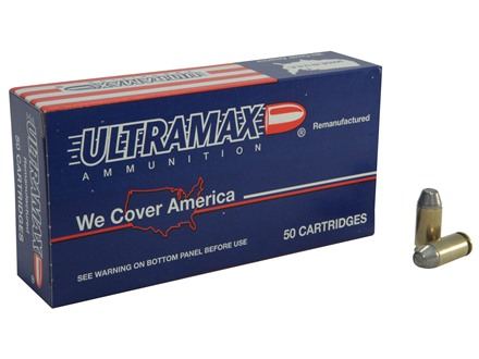 Ultramax Remanufactured Ammunition 40 S&W 180 Grain Lead Conical Nose