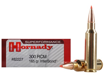 Hornady SUPERFORMANCE Ammunition 300 Ruger Compact Magnum (RCM) 165 Grain InterBond Boat Tail Box of 20