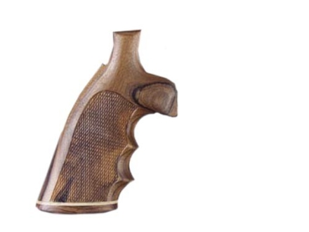 Hogue Fancy Hardwood Grips with Accent Stripe, Finger Grooves and Contrasting Butt Cap Taurus Medium and Large Frame Revolvers Square Butt Checkered Pau Ferro