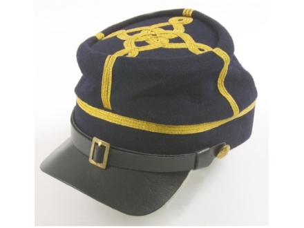 "Collector's Armoury Replica Civil War Deluxe Officer's Kepi Medium (7"" to 7-1/8"") Wool Union Infantry Officer Blue"
