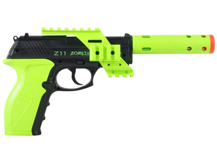 Crosman Airsoft Pistol Tactical Zombie Eliminator CO2 Semi-Automatic Polymer Stock Black and Green