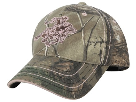Winchester Horse and Rider Logo Cap Cotton Realtree Xtra Camo and Pink