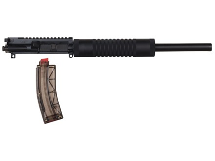 "Tactical Solutions AR-15 A4 LT Flat-Top Conversion Upper Assembly 22 Long Rifle 1 in 16"" Twist 16"" Bull Barrel Aluminum Black with Hogue Free Float Handguard, Threaded Muzzle, 25-Round Magazine"