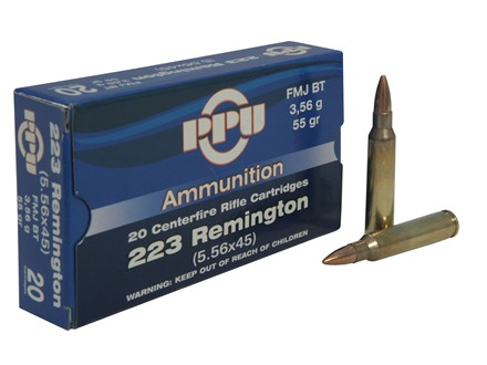 Prvi Partizan Ammunition 223 Remington 55 Grain Full Metal Jacket Boat Tail Box of 20