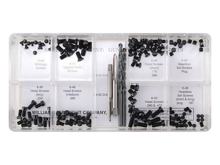 Williams Gunsmith Screw Kit Steel Black Package of 122