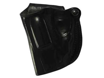 DeSantis Mini Scabbard Holster Outside the Waistband Left Hand Ruger LCR with Lasermax Centerfire Leather Black