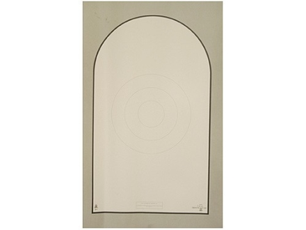 NRA Official Action Pistol Target D-1 10, 15, 20, 25, 35 Yard Bianchi CupTagboard Package of 50