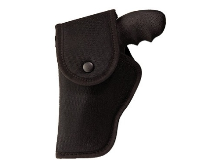 "Uncle Mike's Hip Holster with Flap Left Hand S&W X-Frame 460, 500 8-3/8"" Barrel Nylon Black"
