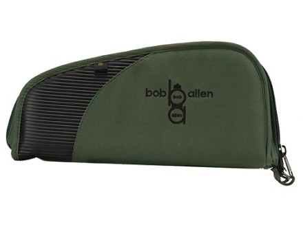 "Bob Allen Intercept Pistol Gun Case 12"" Foam and Rubber Black and Green"