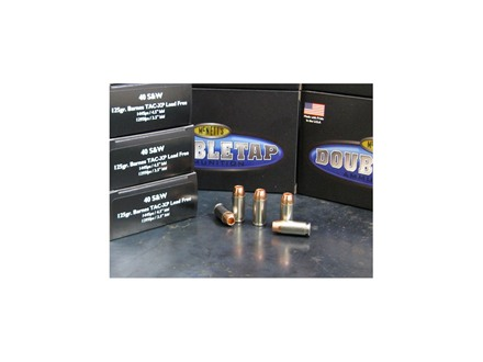 Doubletap Ammunition 40 S&W 125 Grain Barnes TAC-XP Hollow Point Lead-Free Box of 20