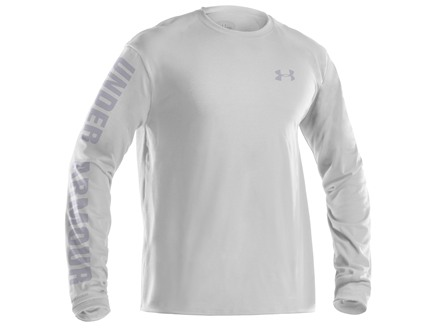 Under Armour Men's UA Wings Set T-Shirt Long Sleeve Cotton White 2XL 50-52