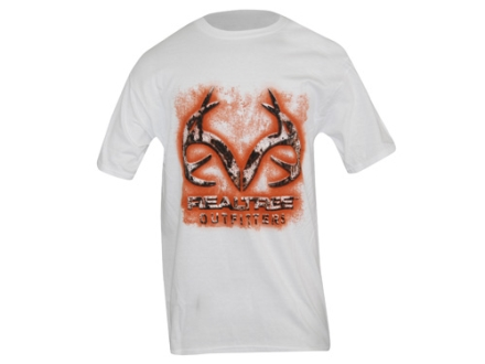 Realtree Outfitters Men's Decay T-Shirt Short Sleeve Cotton White Xl 45-47