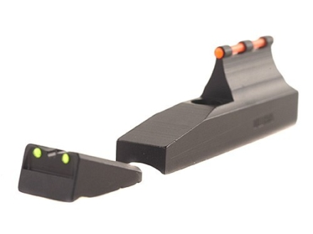 Williams Fire Sight Set Remington Post 2003 Rifle and Muzzleloader with 1-Piece Ramp Aluminum Black Fiber Optic Green