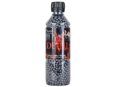 Blaster Devil Airsoft BBs 6mm .40 Gram Black Bottle of 3000