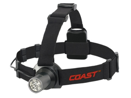 Coast HL5 Headlamp 6 White LEDs with Batteries (3 AAA) Aluminum Gray