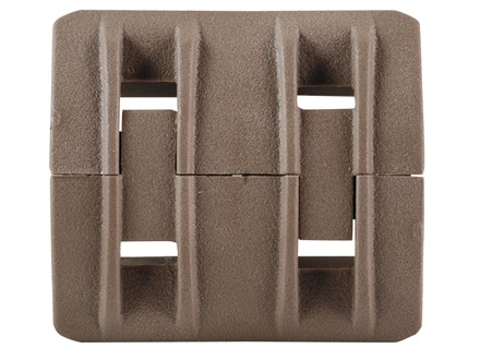 Magpul Picatinny Rail Cover XTM Modular Polymer Flat Dark Earth Package of 4