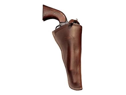 "Hunter 1081 Western Slim Jim Holster Right Hand Colt Single Action Army, Ruger Blackhawk, Vaquero 7.5"" Barrel Leather Antique Brown"