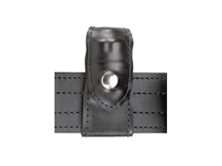 Safariland 371 Split-Six Leather Speedloader Pouch Comp I J Frame 5-Shot Chrome Snap Black