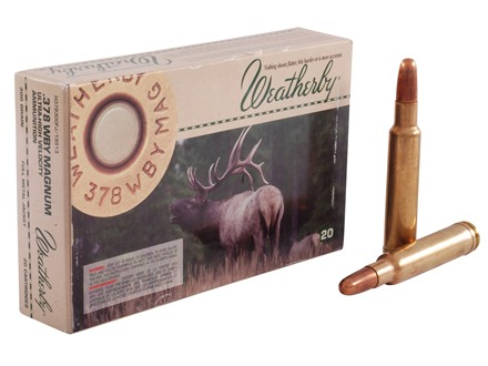 Weatherby Ammunition 378 Weatherby Magnum 300 Grain Hornady Solid Full Metal Jacket Box of 20