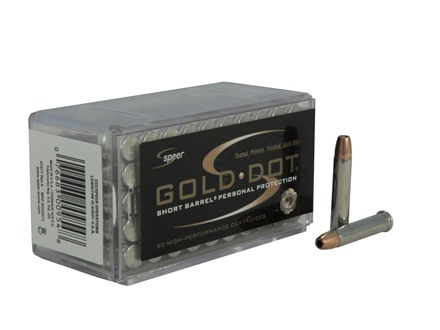 Speer Gold Dot Short Barrel Ammunition 22 Winchester Magnum Rimfire (WMR) 40 Grain Hollow Point