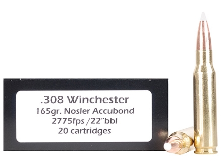 Doubletap Ammunition 308 Winchester 165 Grain Nosler AccuBond Spitzer Box of 20