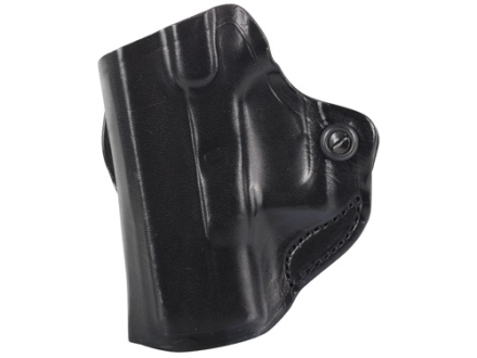 DeSantis Mini Scabbard Outside the Waistband Holster Left Hand Glock 26, 27, 33 Leather Black