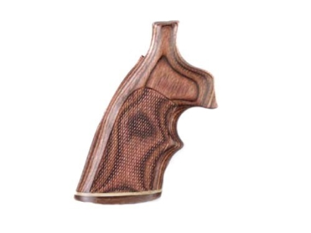 Hogue Fancy Hardwood Grips with Accent Stripe and Top Finger Groove Colt Python Checkered Rosewood Laminate