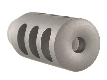 "Holland's Quick Discharge Muzzle Brake 9/16""-28 Thread .580""-.650"" Barrel Tapered Stainless Steel"