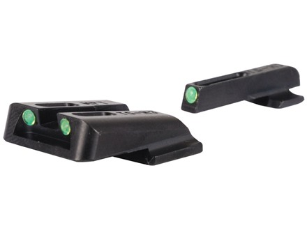 TRUGLO TFO Sight Set S&W M&P, SD9, SD40 Steel Tritium / Fiber Optic Green