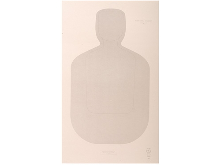 "NRA Official Training and Qualification Targets Law Enforcement TQ-22 12"" x 20"" Paper Package of 100"