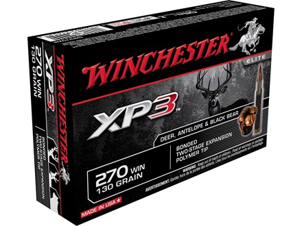 Winchester Ammunition 270 Winchester 130 Grain XP3 Box of 20
