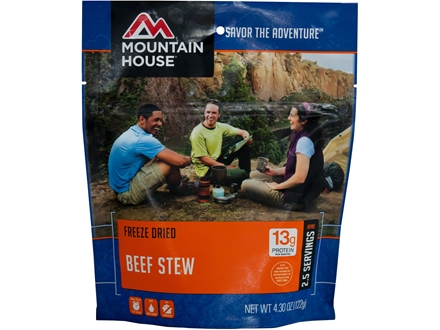 Mountain House Hearty Beef Stew Freeze Dried Meal 4.3 oz