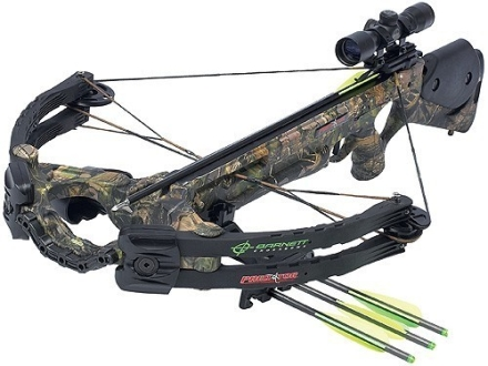 Barnett Predator CarbonLite 375 CRT Crossbow Package with 3x 32mm Illuminated Multi-Reticle Scope Realtree APG Camo