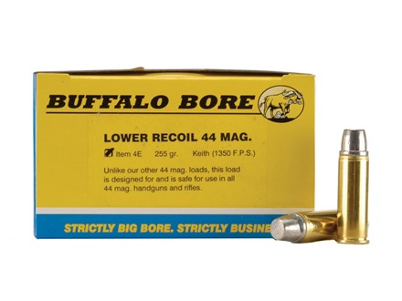 Buffalo Bore Ammunition 44 Remington Magnum 255 Grain Lead Keith-Type Semi-Wadcutter Gas Check Box of 20