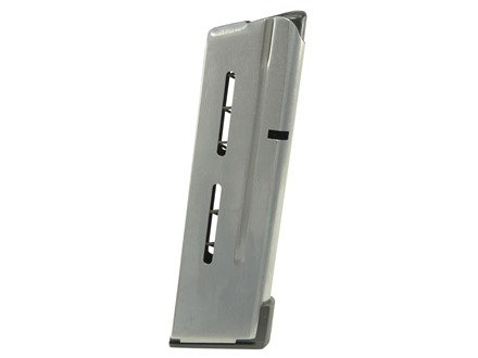 Wilson Combat Magazine with Low Profile Steel Base Pad 1911 Compact 38 Super 9-Round Stainless Steel