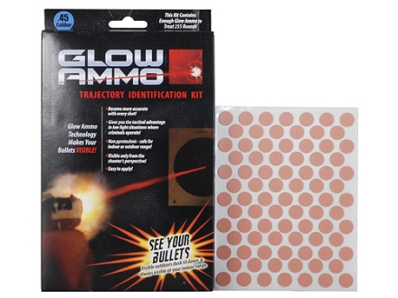 Glow Ammo Trajectory Identification Kit 45 Caliber (430 Diameter) 1 grain box of 255 Red Trace