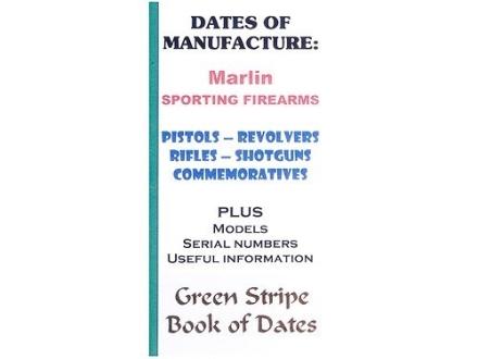 "Green Stripe Data Books ""Marlin"" Book by Firing Pin Enterprises"