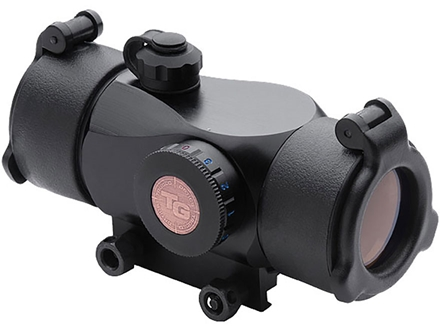 TRUGLO Triton Red Dot Sight 5 MOA Dot Red, Green and Blue with Pressure Switch and Integral Weaver-Style Mount Matte