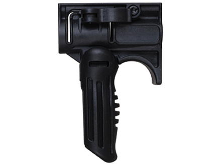 "Mako Folding Vertical Forend Grip and 1"" Light Mount Quick Release AR-15 Polymer Black"