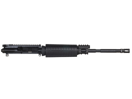 "CMMG AR-15 M4 LEP II A3 Flat-Top Gas Piston Upper Assembly 6.8mm Remington SPC II 1 in 11"" Twist 16"" Barrel WASP Melonite Finished Chrome Moly Matte with M4 Handguard, Flash Hider"